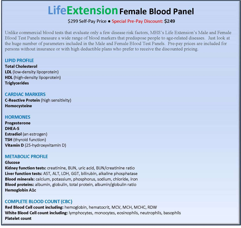 LifeExtension Program - Med Health Services
